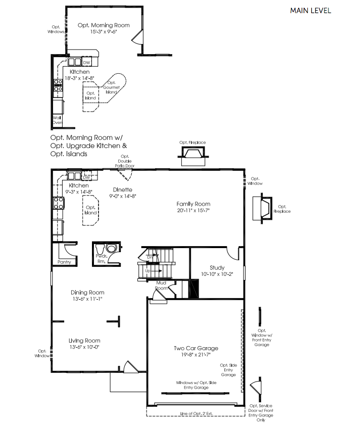 Ryan homes floor plans sienna for Ran homes plans